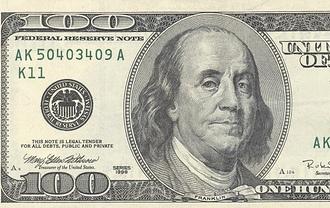 100 bill image