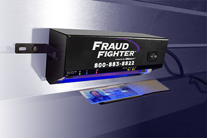 Mounted POS15 counterfeit detector