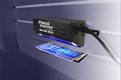POS15 counterfeit detector mounted