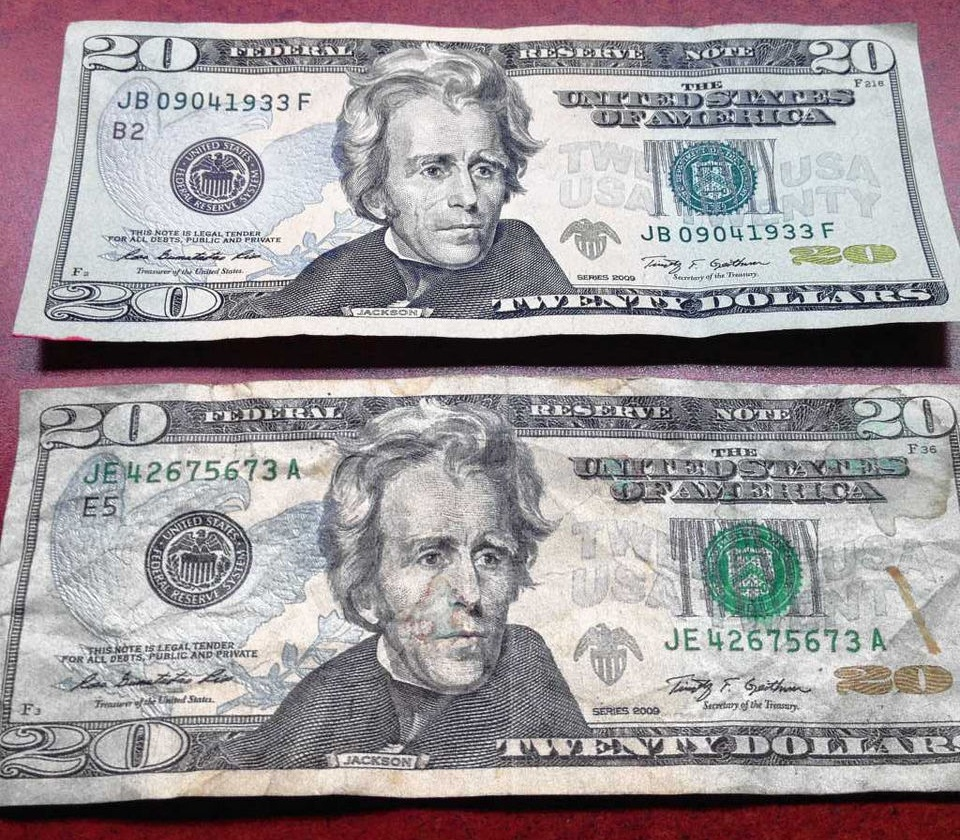 Counterfeit Money And Real Money