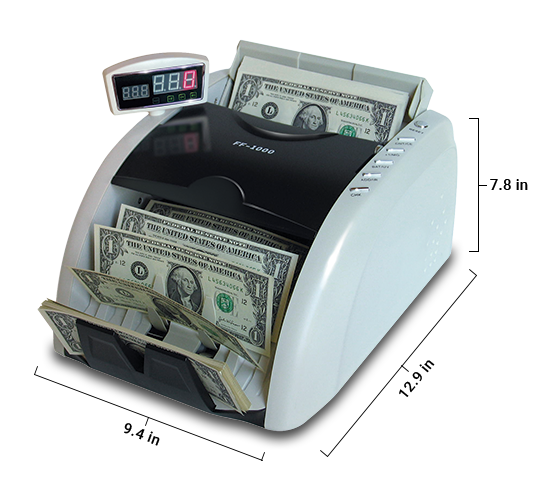ff1000 high speed money counter dimensions