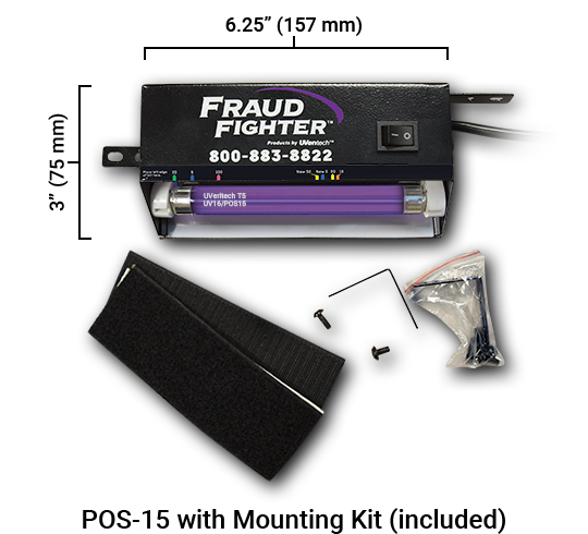 pos15 wall mount counterfeit detection